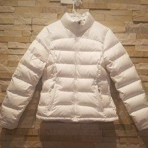 North Face Womens White Nuptse Down Jacket Small S